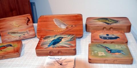 Exklusive Fliegenboxen aus Bambusholz.