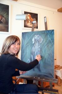 Eine echte Vollblut-Malerin am Attersee: Angela Lenz.