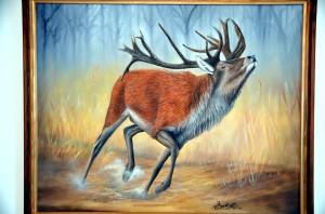 Auch Jagdszenen gehören zu den Motiven von Lenz.