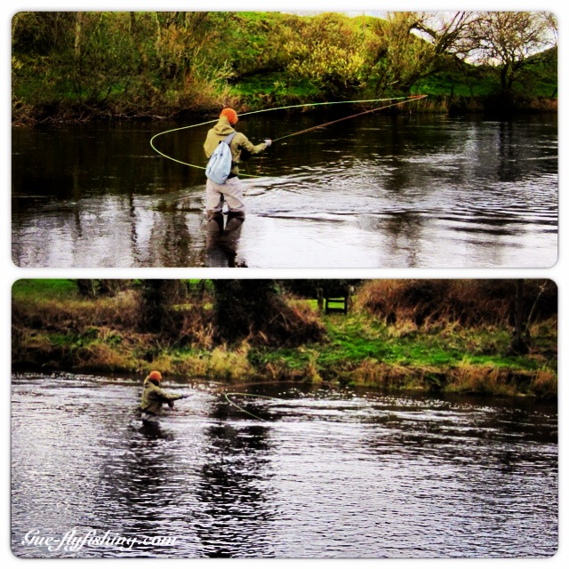 ... und Zweihandfischen in Irland auf Lachs: der Stormfront Sling war dabei.