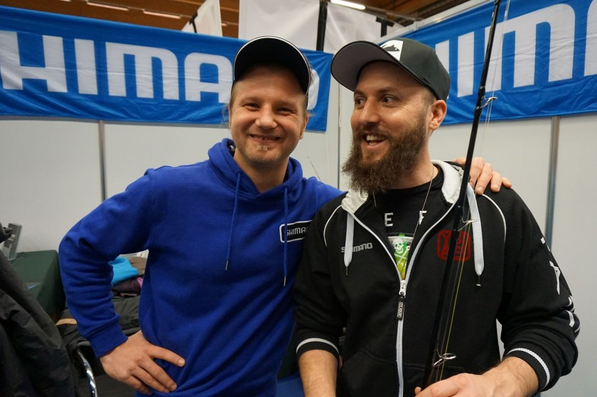 Andreas und Hans-Peter am Shimano Stand