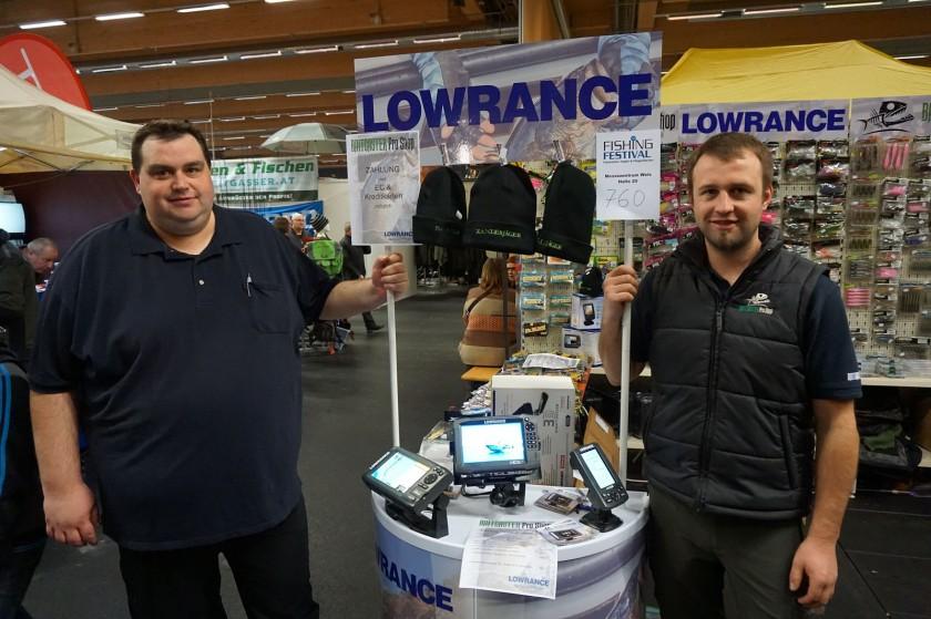 Team vom Baitcaster Pro Shop mit Lowrance Produkten