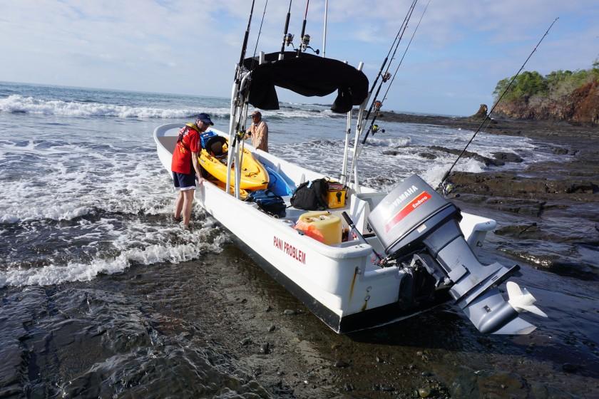 Per Boot wurden wir an die fangträchtigen Plätze gebracht.
