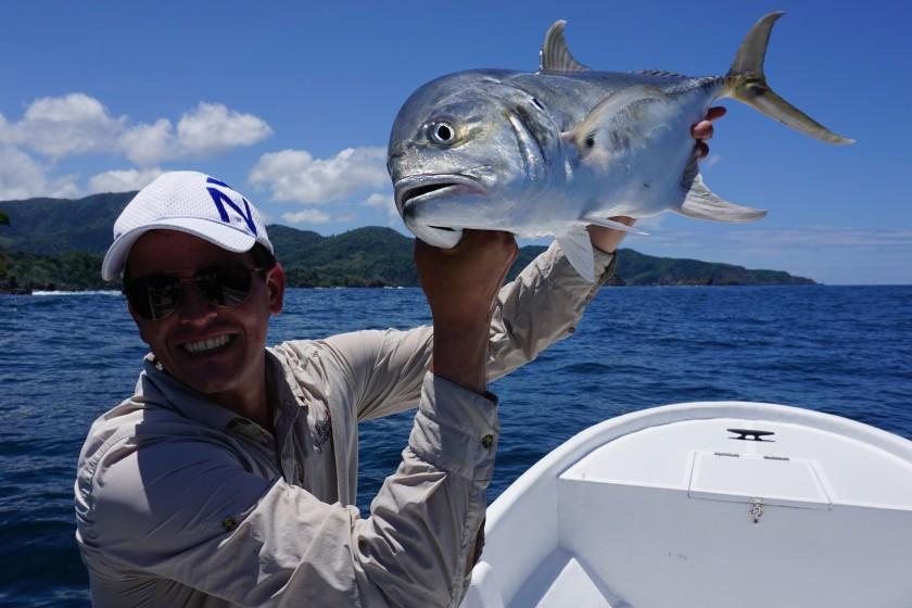 Ein weiterer Hauptfisch ist der Jack Crevalle. Oft konnten wir Gruppen von Jacks beobachten die unserer Köder verfolgten und meist brutal attackierten.